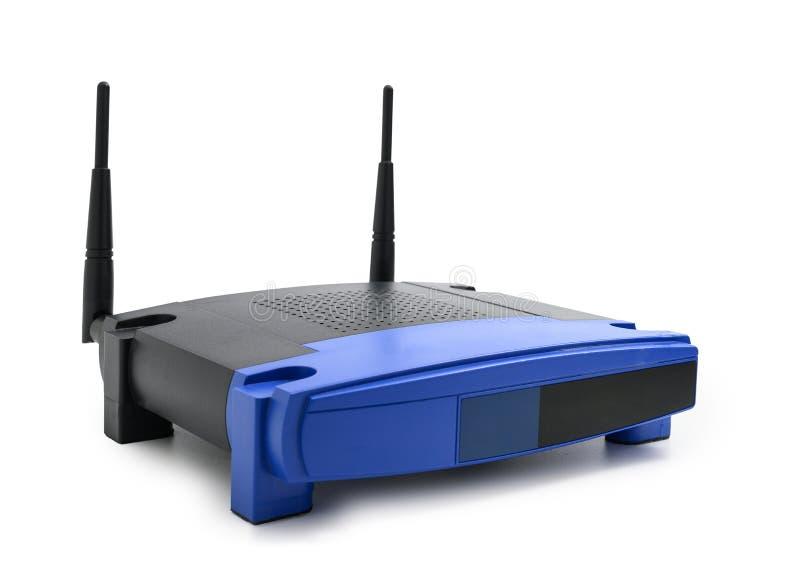 Moderner drahtloser Internet-Router lokalisiert auf weißem Hintergrund mit Beschneidungspfad lizenzfreies stockbild