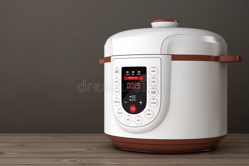Moderner elektrischer multi Kocher Wiedergabe 3d stock abbildung