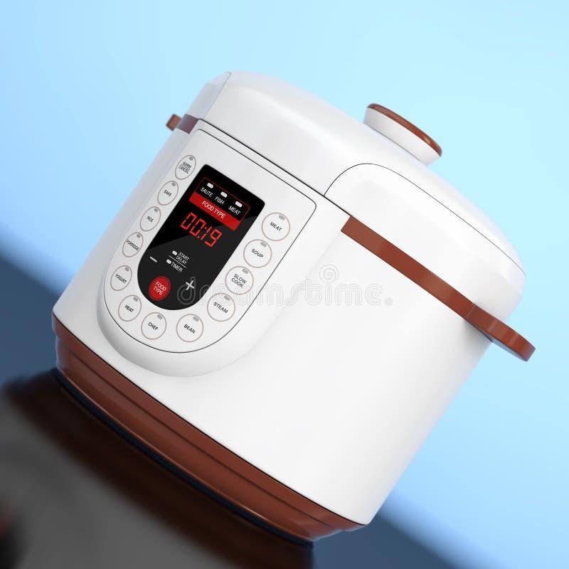 Moderner elektrischer multi Kocher Wiedergabe 3d lizenzfreie abbildung