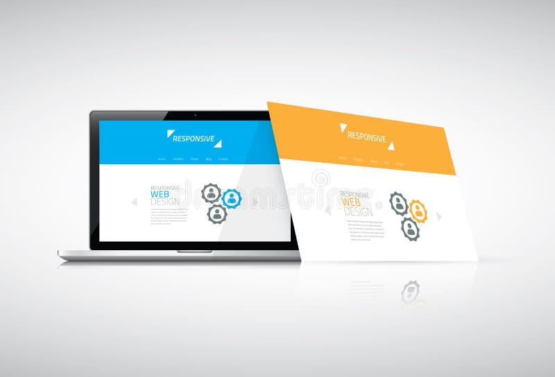 Moderner entgegenkommender Webdesignkonzeptvektor stock abbildung
