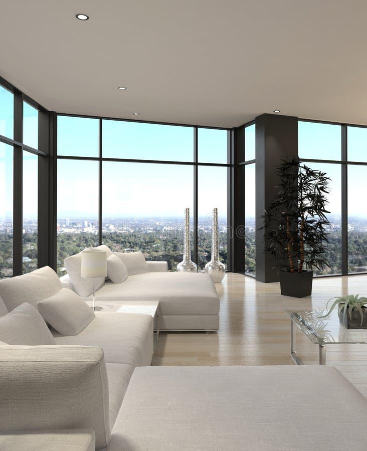 moderner entwurfs dachboden wohnzimmer architektur stock abbildung illustration 31171205. Black Bedroom Furniture Sets. Home Design Ideas