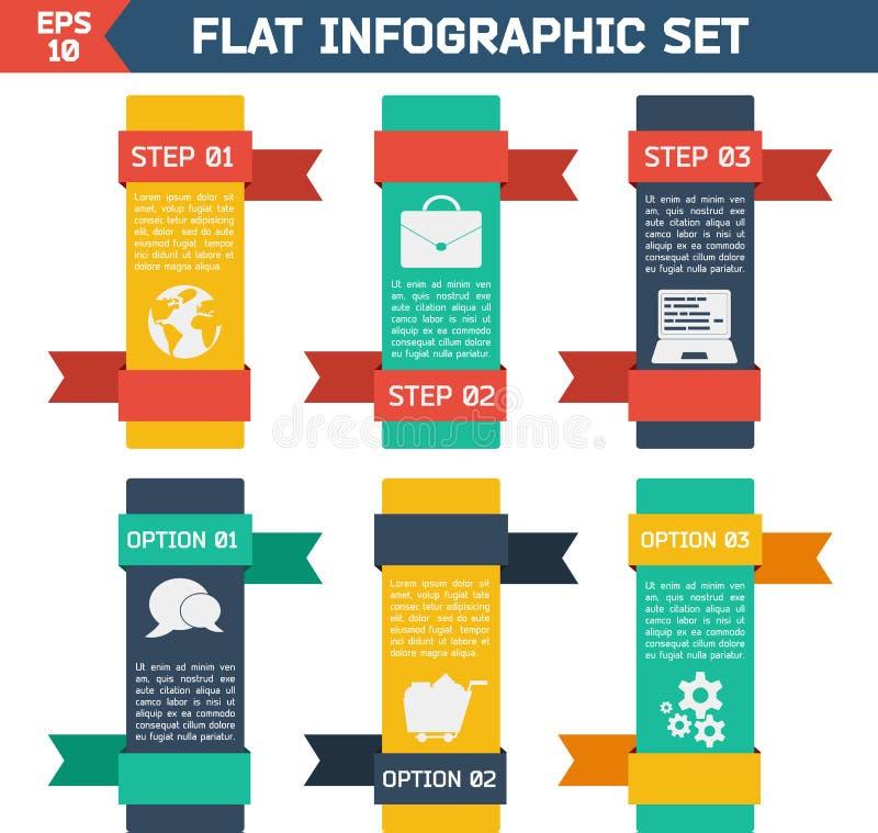 Moderner flacher infographic Hintergrund stock abbildung