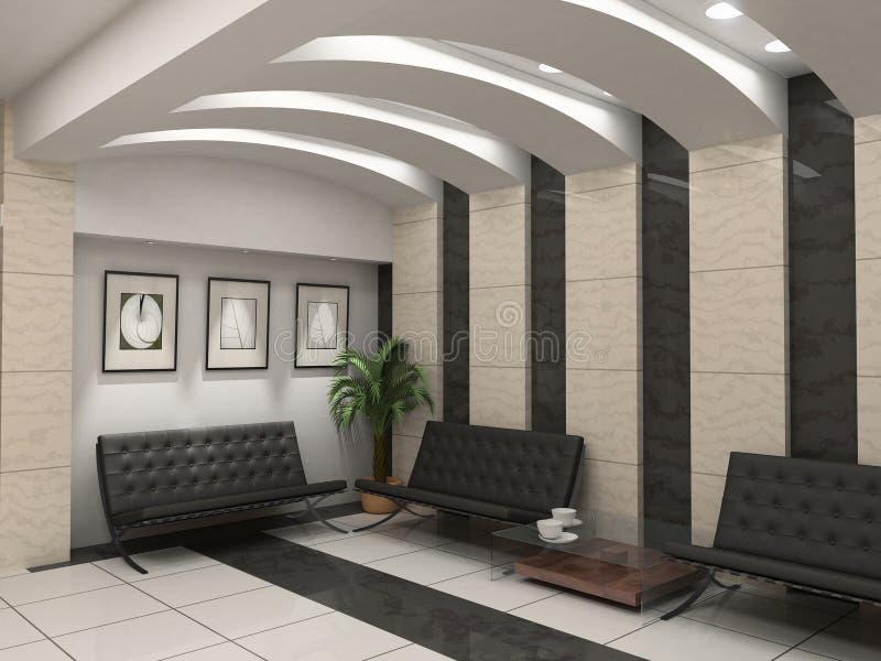 Moderner Foyerinnenraum lizenzfreie abbildung