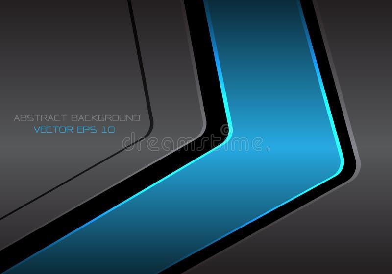 Moderner futuristischer Hintergrundvektor des abstrakten blauen dunkelgrauen Metallpfeildesigns vektor abbildung