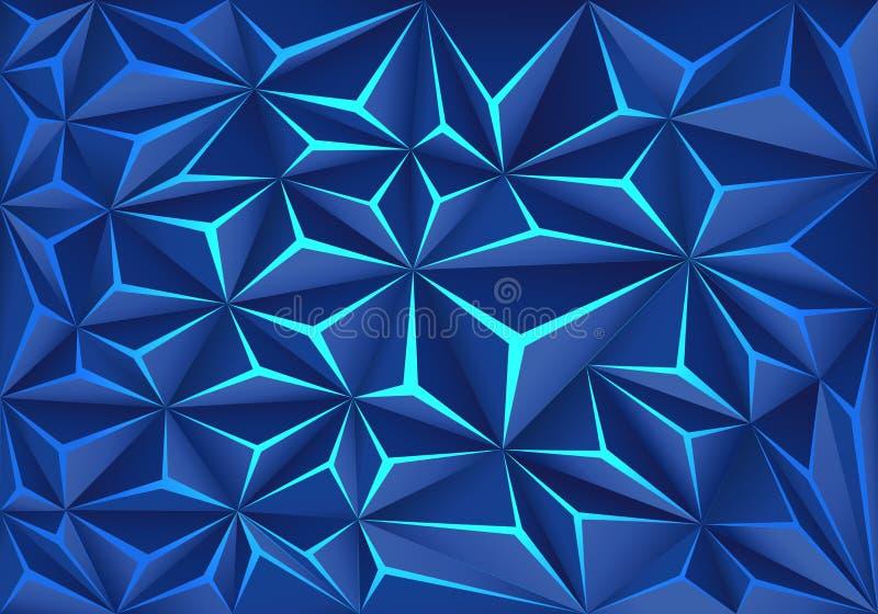 Moderner futuristischer Hintergrundvektor des abstrakten blauen Polygonsprungslichttechnologieentwurfs stock abbildung