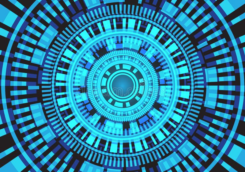 Moderner futuristischer Hintergrundvektor des abstrakten Unschärfelichtkreisstromkreis-Systemenergie-Energietechnologieentwurfs lizenzfreie abbildung