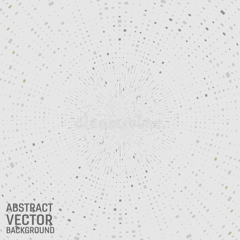 Moderner geometrischer quadratischer abstrakter Hintergrund des grauen Farbvektors Geometrisches Muster in der Halbtonart vektor abbildung