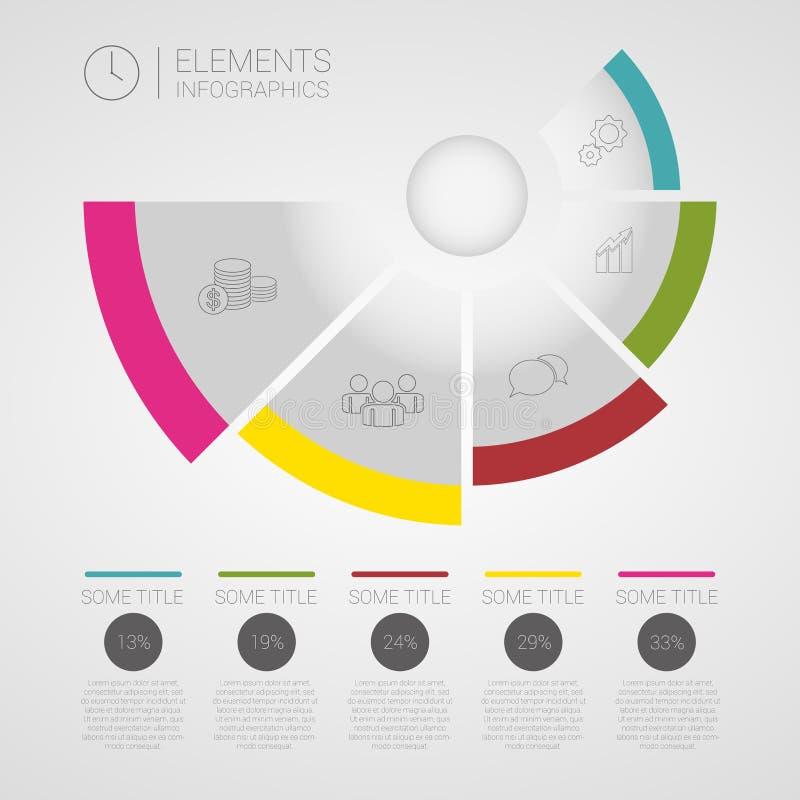 Moderner Geschäft Infographics-Kreis-Origamivektor lizenzfreie abbildung