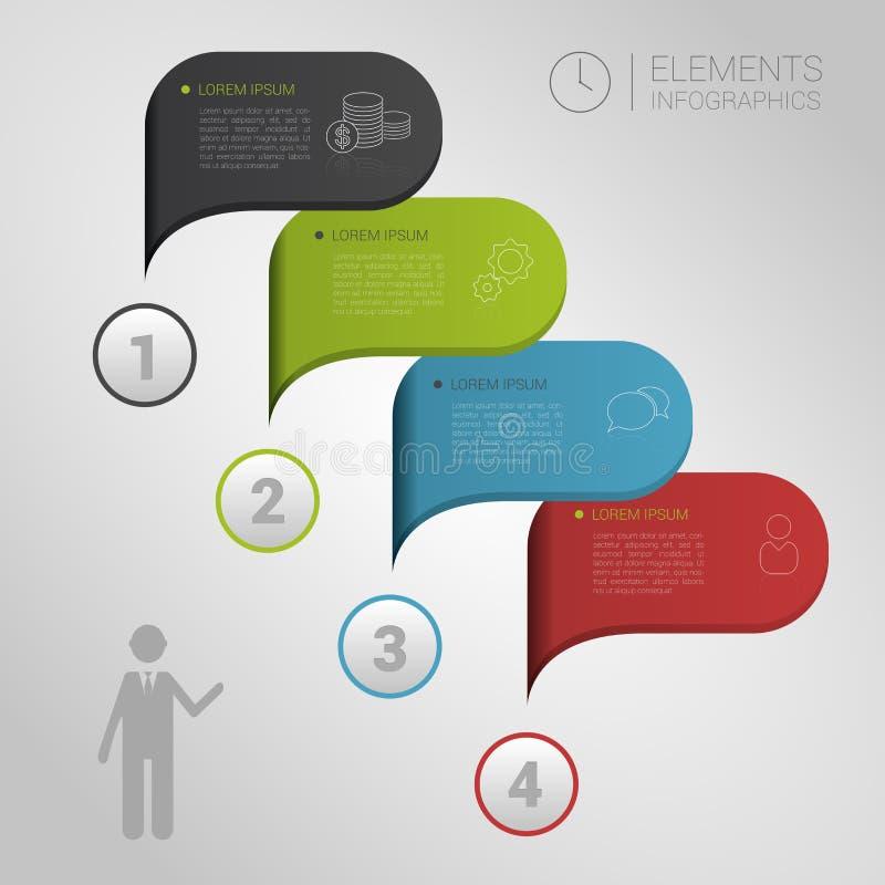 Moderner Geschäftsblasenspracheschablonenartvektor lizenzfreie abbildung