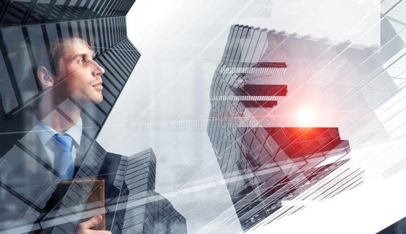 Moderner Geschäftslebensstil Gemischte Medien stockfoto