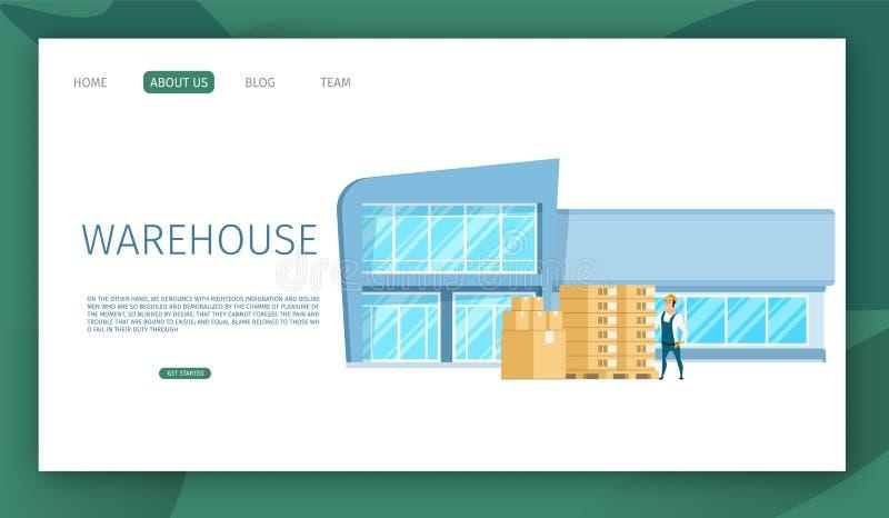 Moderner Glasarbeitslager-Gebäude-Entwurf lizenzfreie abbildung