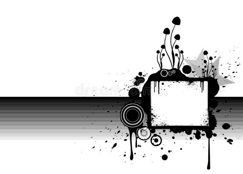 Moderner grunge Hintergrund mit zentraler Anschlagtafel lizenzfreie abbildung