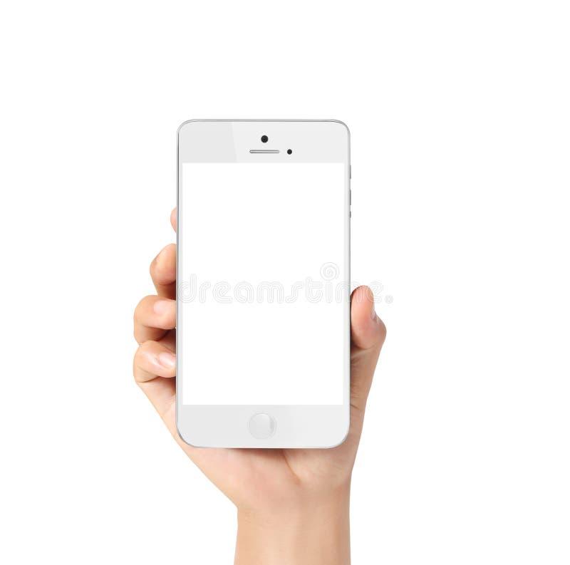 Moderner Handy in der Hand stockfotos