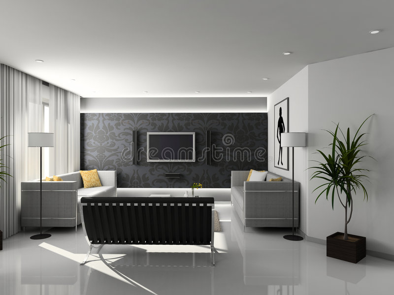 Moderner Hauptinnenraum. stock abbildung