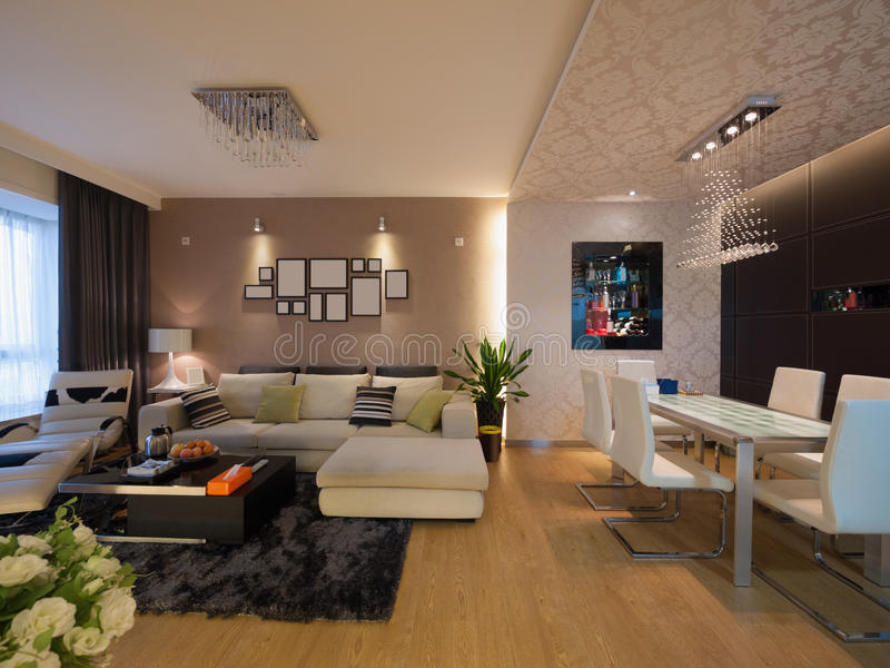 Moderner Hauptinnenraum lizenzfreies stockbild