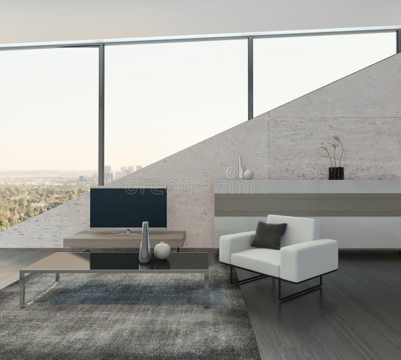 Steinboden Küche moderner heller kücheninnenraum mit steinboden stock abbildung