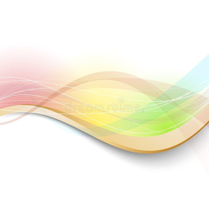 Moderner heller transparenter bunter Hintergrund stock abbildung