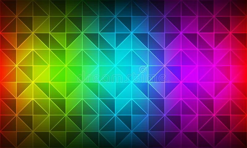 Moderner Hintergrund des Farbspektrums, geometrische Beschaffenheit des Polygons, dreieckiges Mosaik, moderne kreative Entwurf te lizenzfreie abbildung