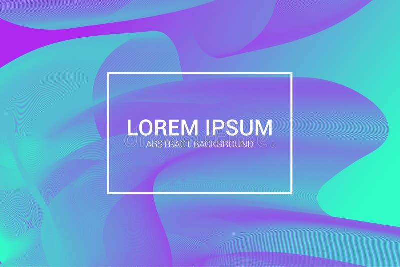 Moderner Hintergrund mit bunter Wellenzusammensetzung Modisches minimales Design EPS10 stockbilder