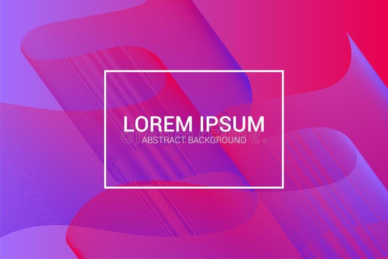 Moderner Hintergrund mit bunter Wellenzusammensetzung Modisches minimales Design EPS10 stockfoto