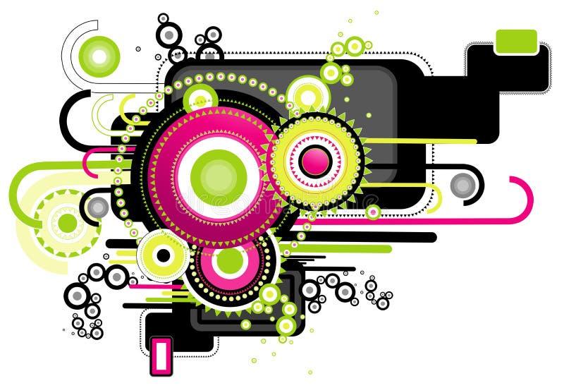 Moderner Hintergrund, Vektor stock abbildung