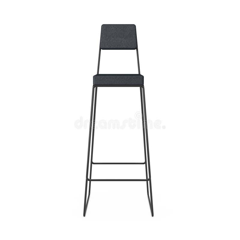 Moderner hoher schwarzer Barhocker oder Stuhl Wiedergabe 3d vektor abbildung
