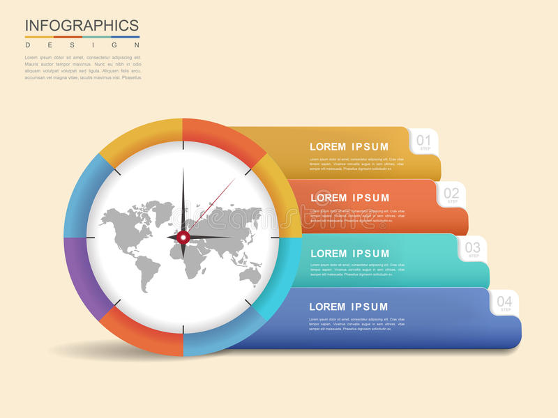 Moderner infographic Entwurf lizenzfreie abbildung
