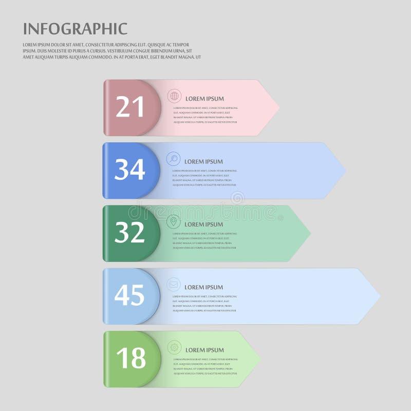 Moderner infographic Entwurf vektor abbildung