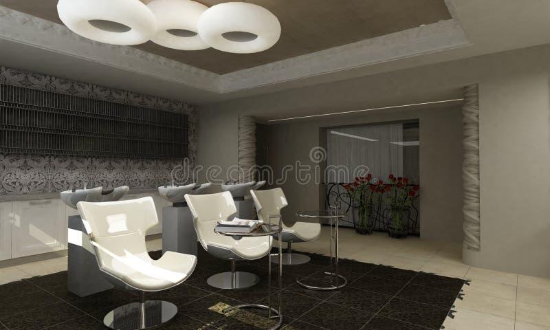 Moderner Innenarchitekturschönheitssalon stock abbildung