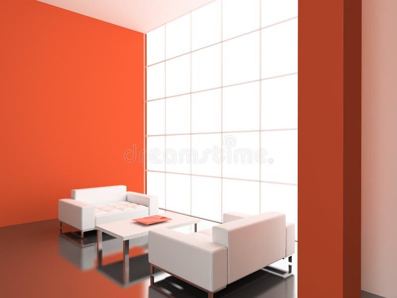 Moderner Innenraum. lizenzfreie abbildung