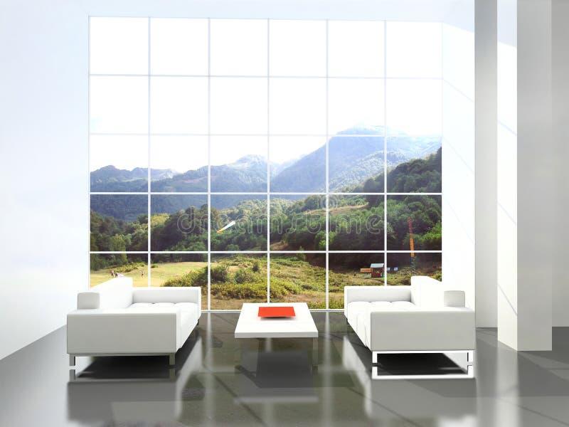 Moderner Innenraum. stockfotografie