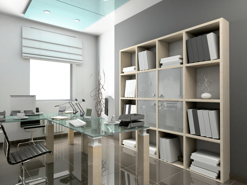 Moderner Innenraum. stock abbildung