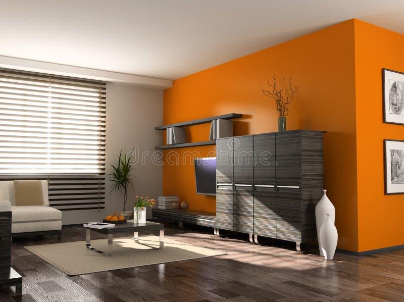 Moderner Innenraum stock abbildung