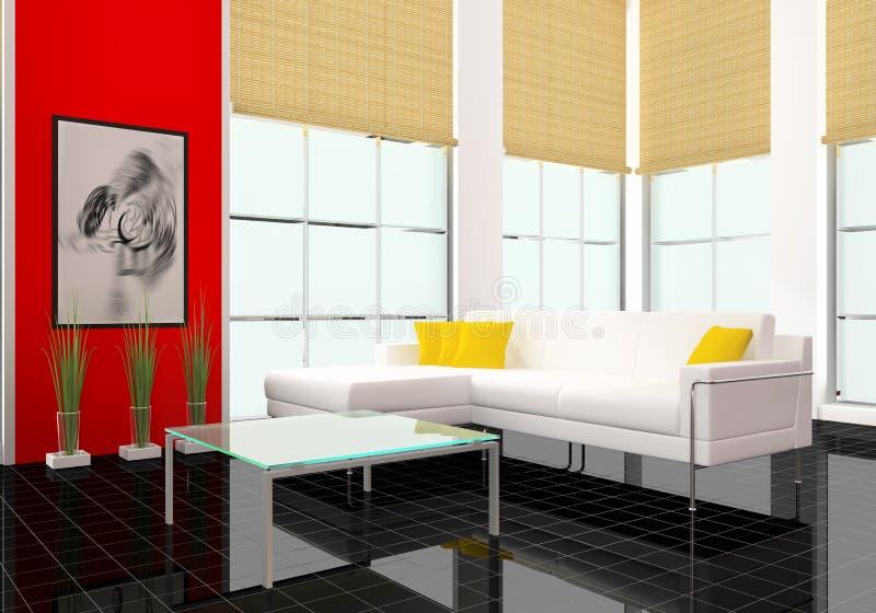 Moderner innenraum stock abbildung illustration von - Download er finestra ...