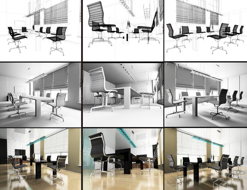 Moderner Innenraum des Büros vektor abbildung