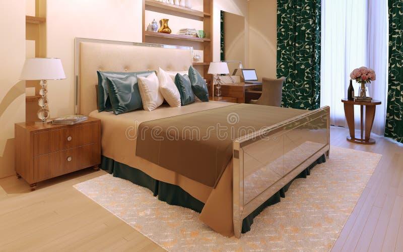 Moderner Innenraum des Schlafzimmers lizenzfreie stockbilder