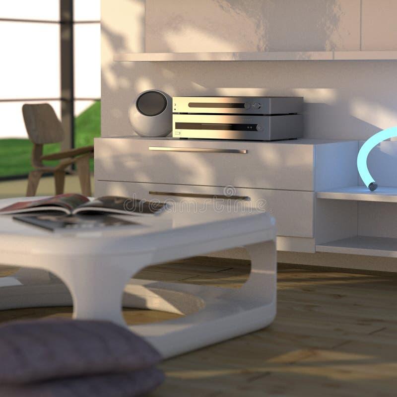 Moderner Innenraum mit Stereolithographie lizenzfreie abbildung