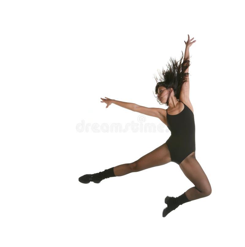 Moderner Jazz-Straßen-Tänzer-Springen lizenzfreies stockbild