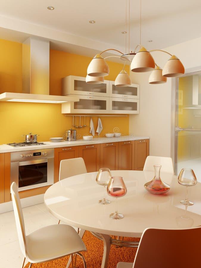 Moderner Kücheinnenraum vektor abbildung