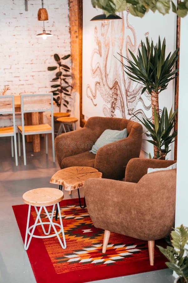 Moderner Kaffeinnenraum stockbilder