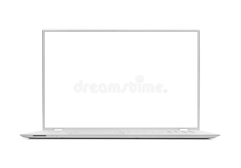 Moderner Laptop lokalisiert lizenzfreie stockfotografie