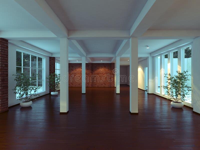 Moderner leerer Innenraum stockfotos
