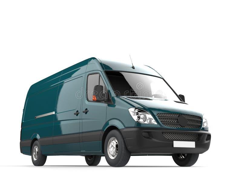 Moderner Lieferwagen der dunklen Knickente lizenzfreie abbildung