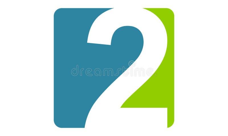 Moderner Logo Number 2 lizenzfreie abbildung