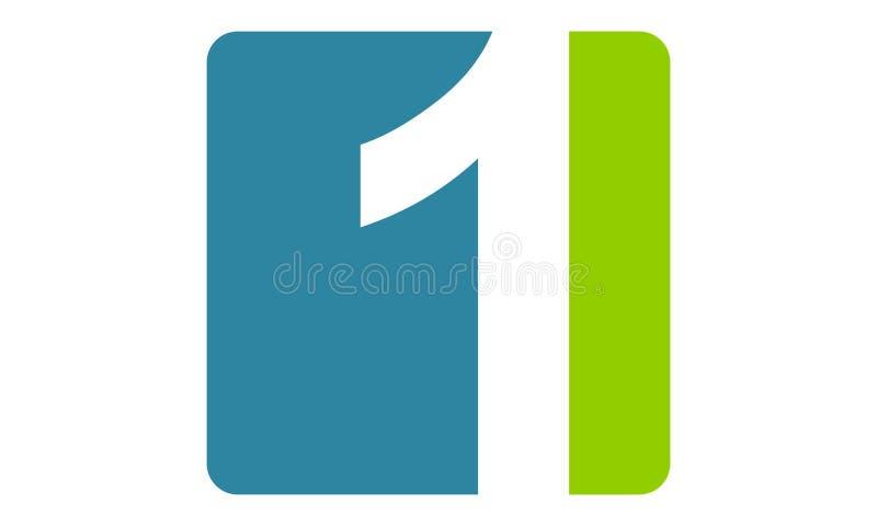 Moderner Logo Number 1 vektor abbildung
