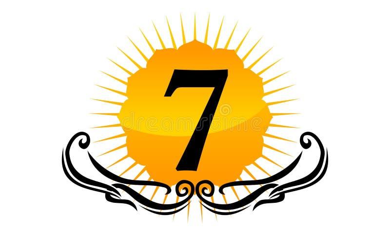 Moderner Logo Number 7 lizenzfreie abbildung