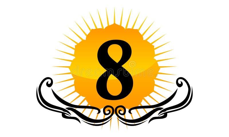 Moderner Logo Number 8 vektor abbildung