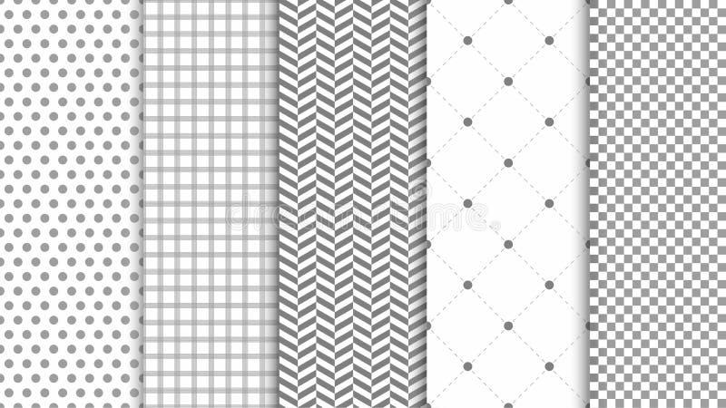Moderner nahtloser Musterhintergrund Zusammenfassungssatz für elegantes Design, arbeiten Universalhintergrund um lizenzfreie abbildung