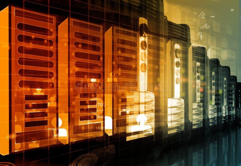 Moderner Netzwerk-Server-Raum im Rechenzentrum lizenzfreie stockfotografie