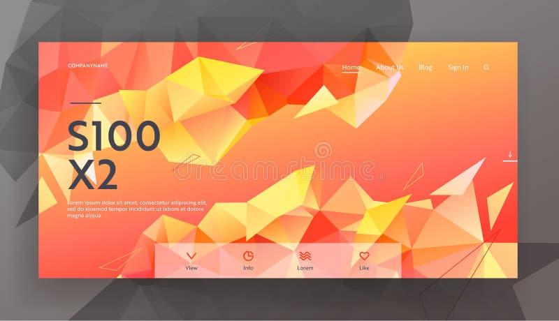 Moderner niedriger Polyart-Hintergrund mit Dreieck-polygonalem Muster Kreativer undeutlicher geometrischer Entwurf in der Origami vektor abbildung